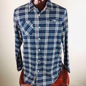 RVCA Regular Long Sleeve Button Down Flannel Shirt